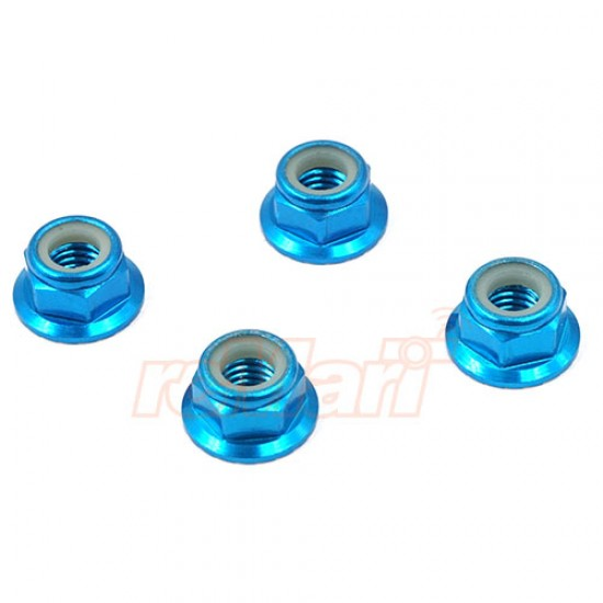 5mm Aluminum Wheel Lock Nut 4pcs Blue