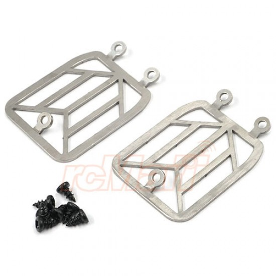 Steel Front Light Grill Body Accessories 2pcs For Traxxas TRX-4 TRX4-6 Benz