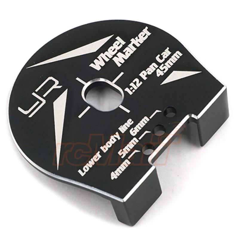 Aluminum Wheel Well Marker For 1:12 RC Car Black