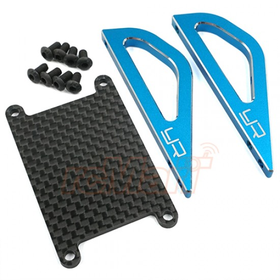 Aluminum Graphite Roll Assist Bracket For Tamiya SW-01 Blue