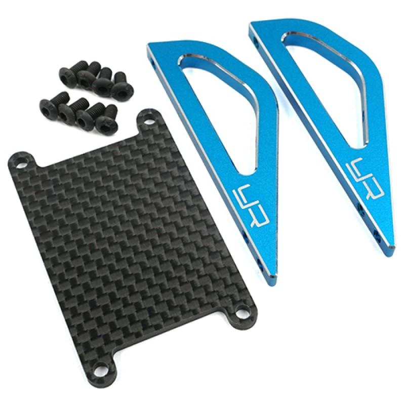 Aluminum Graphite Roll Assist Bracket For Tamiya SW-01 Blue