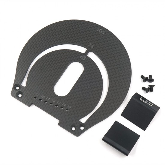 Aluminum & Carbon Wheel Well Marker For 1:8 On Road RC Car Black