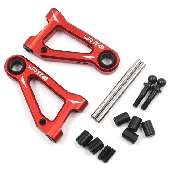 Aluminum Front Lower Arm Set For Tamiya TT-01 TT-01E Red