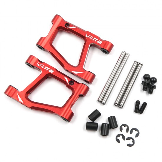 Aluminum Rear Lower Arm Set For Tamiya TT-01 TT-01E Red