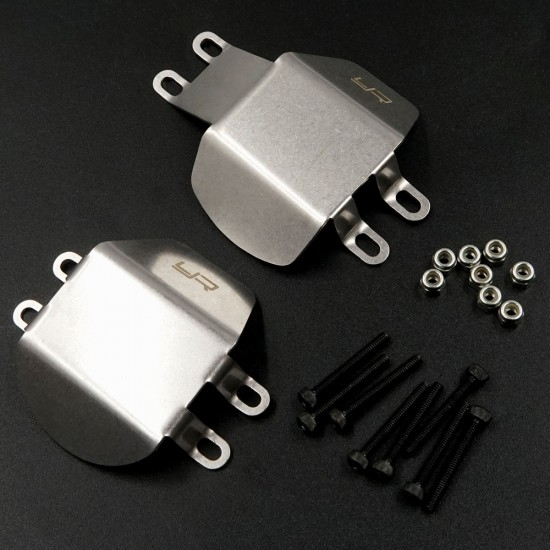 Stainless Steel Front and Rear Differential Protector For Tamiya CC02