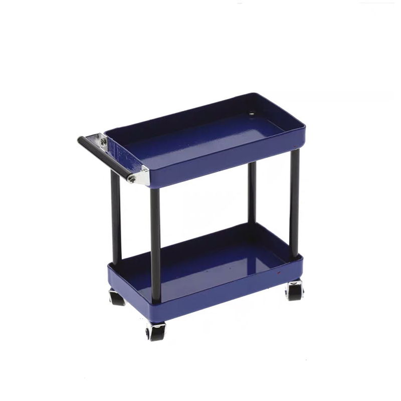 1/10 RC Accessory 2-Tiered Rolling Metal Handy Cart Blue
