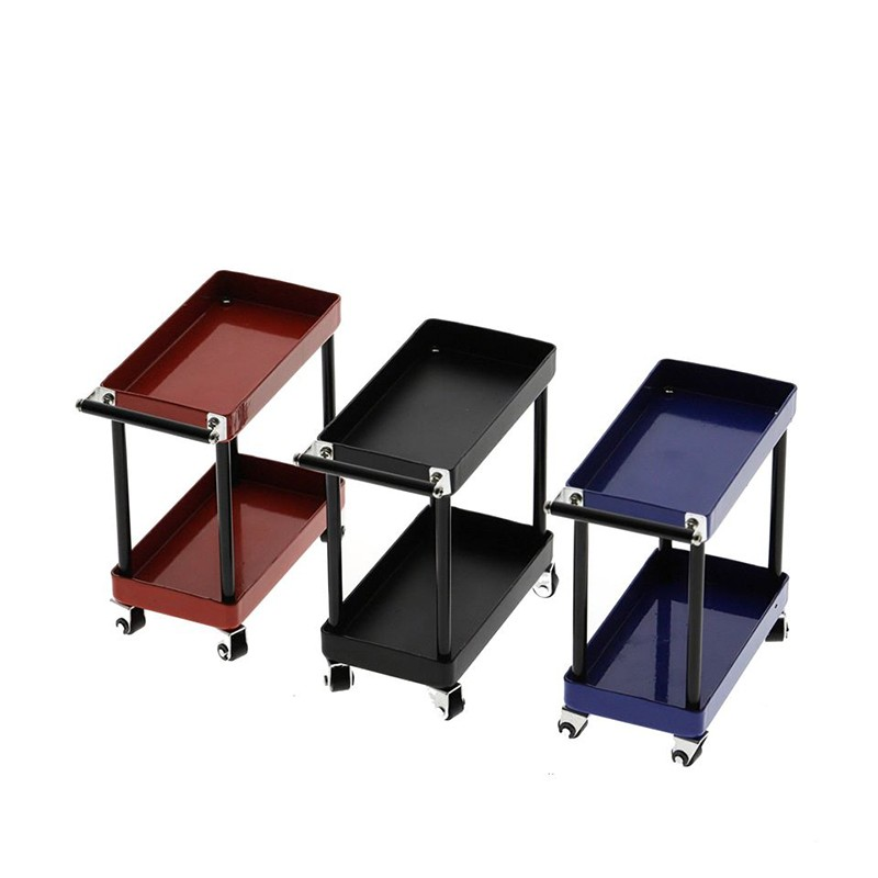 1/10 RC Accessory 2-Tiered Rolling Metal Handy Cart Red