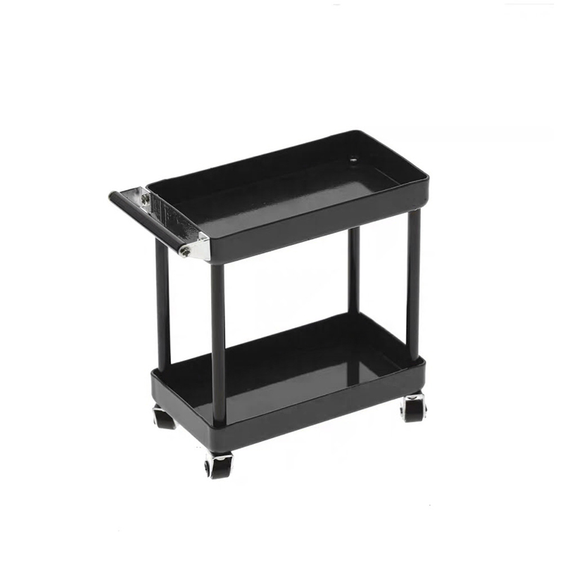 1/10 RC Accessory 2-Tiered Rolling Metal Handy Cart Black
