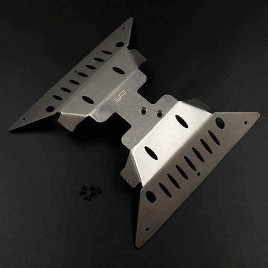 Stainless Steel Skid & Side Plate Set For Axial Capra
