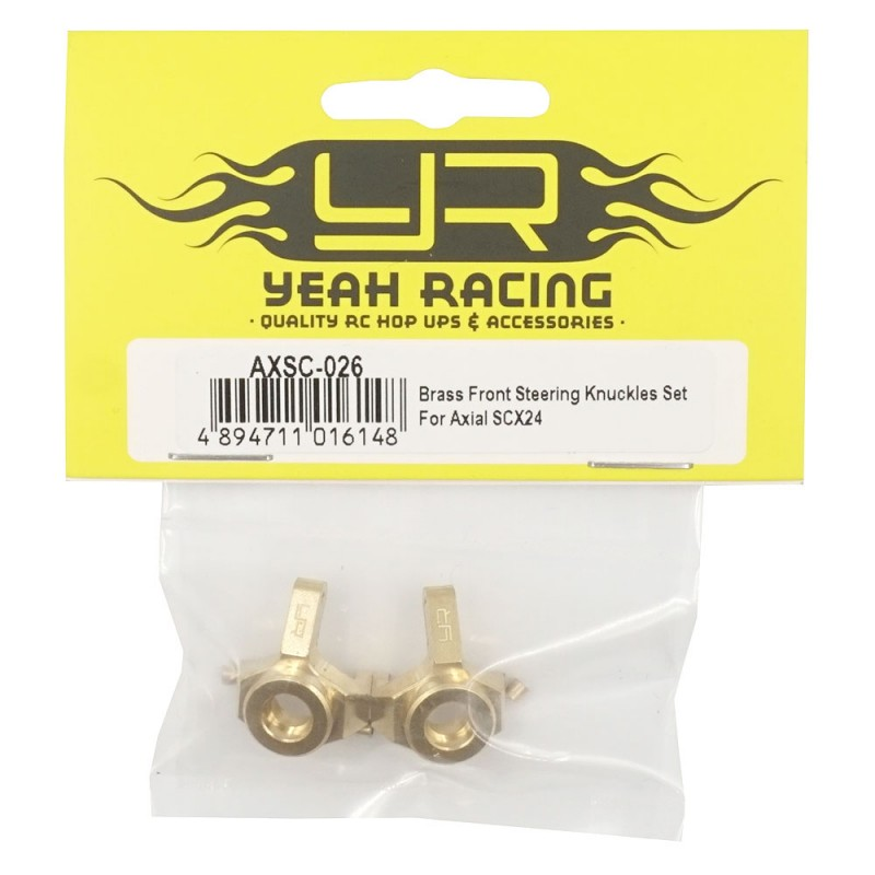 Brass Front Steering Knuckles Set For Axial SCX24