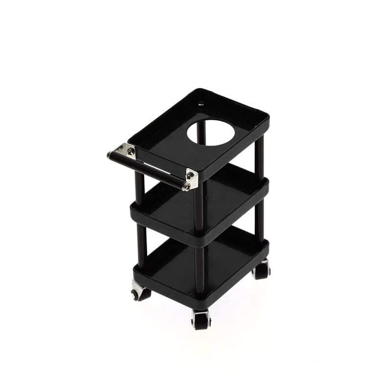 1/10 RC Accessory 3-Tiered Rolling Metal Handy Cart Black