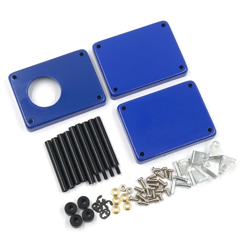 1/10 RC Accessory 3-Tiered Rolling Metal Handy Cart Blue