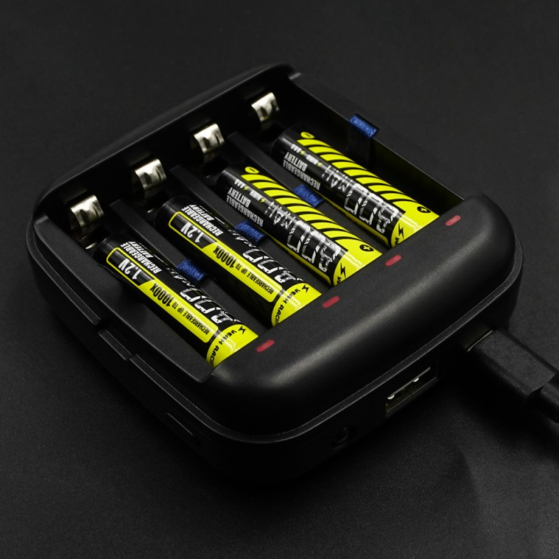 AAA / AA Li-ion Ni-MH USB Powered Battery Charger