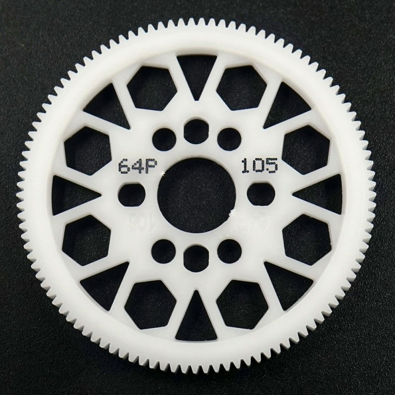 Competition Delrin Spur Gear 64P 105T For 1/10 On Road Touring Drift