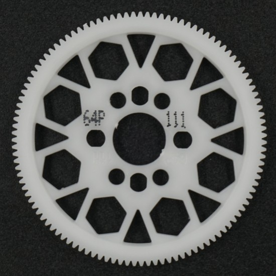 Competition Delrin Spur Gear 64P 111T For 1/10 On Road Touring Drift
