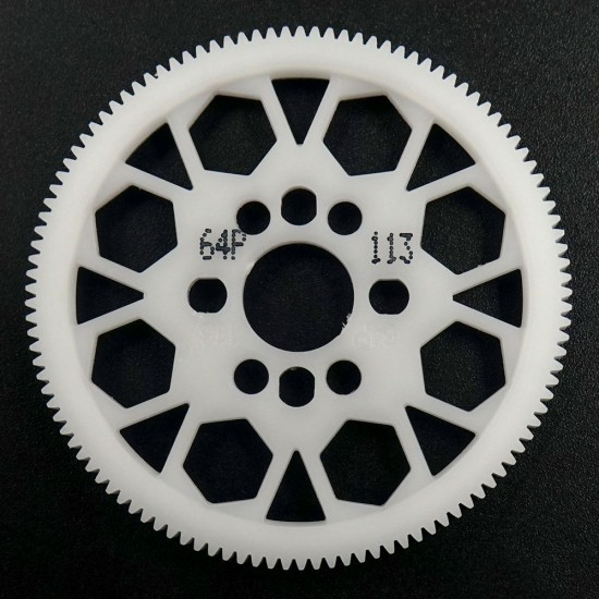 Competition Delrin Spur Gear 64P 113T For 1/10 On Road Touring Drift