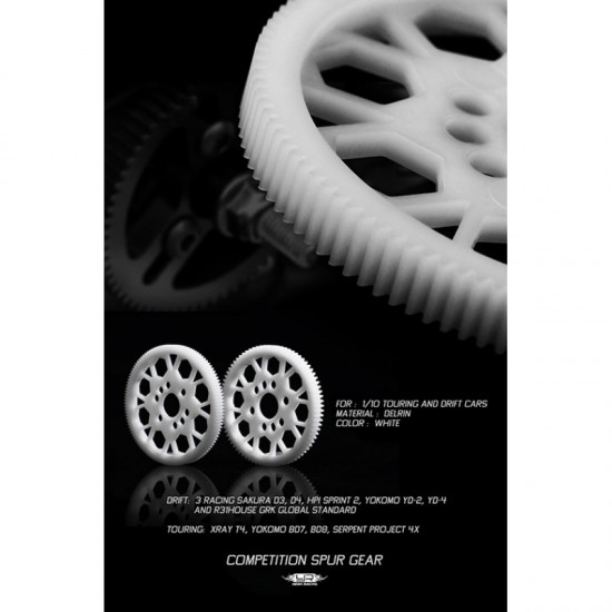Competition Delrin Spur Gear 64P 117T For 1/10 On Road Touring Drift