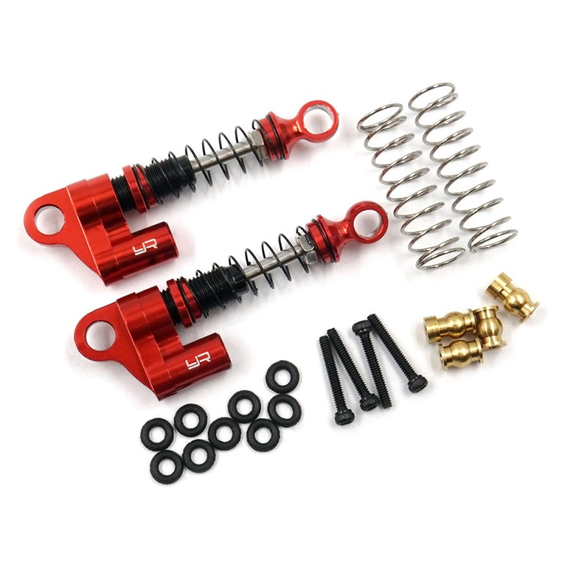 Aluminum Shock Pair For Axial SCX24 Red