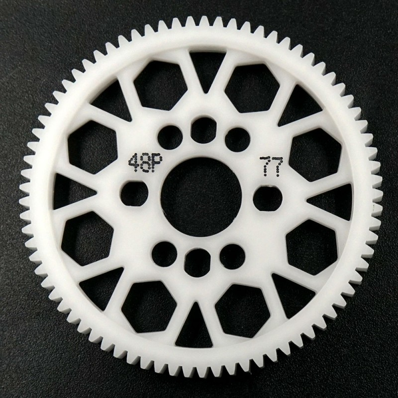 Competition Delrin Spur Gear 48P 77T For 1/10 On Road Touring Drift