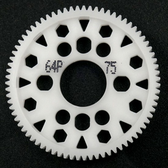 Competition Delrin Spur Gear 64P 75T For 1/10 On Road Touring Drift