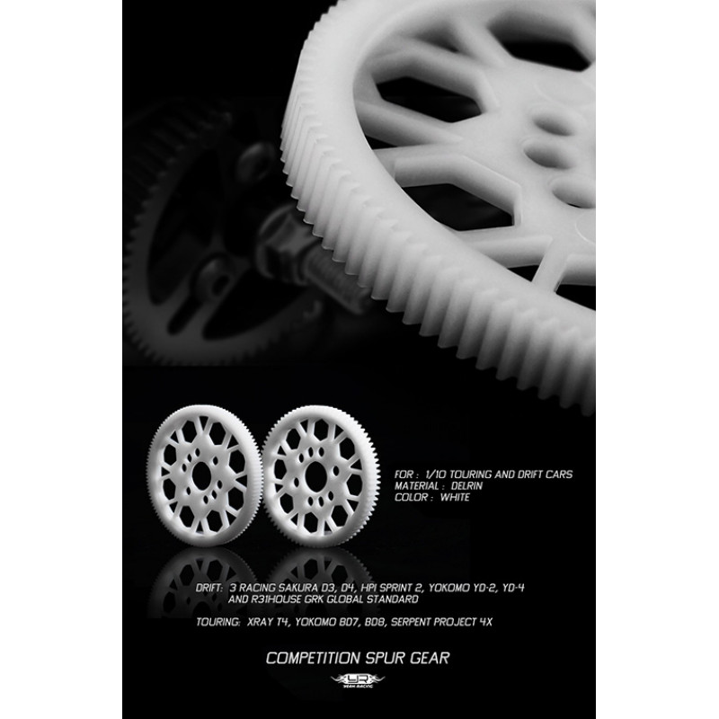 Competition Delrin Spur Gear 64P 76T For 1/10 On Road Touring Drift
