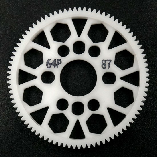 Competition Delrin Spur Gear 64P 87T For 1/10 On Road Touring Drift
