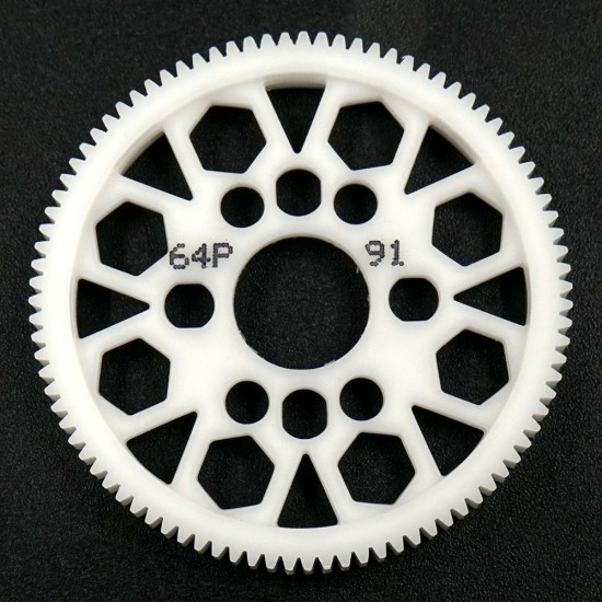 Competition Delrin Spur Gear 64P 91T For 1/10 On Road Touring Drift
