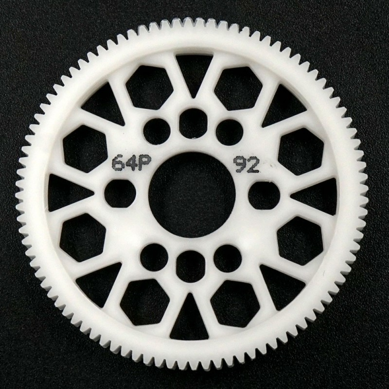 Competition Delrin Spur Gear 64P 92T For 1/10 On Road Touring Drift