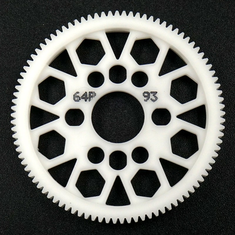 Competition Delrin Spur Gear 64P 93T For 1/10 On Road Touring Drift