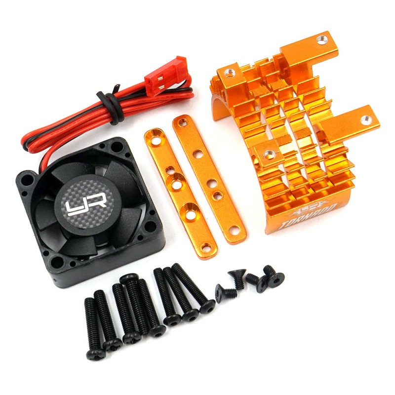 Aluminium 540 & 550 Motor Heat Sink w/Tornado High Speed Fan Orange