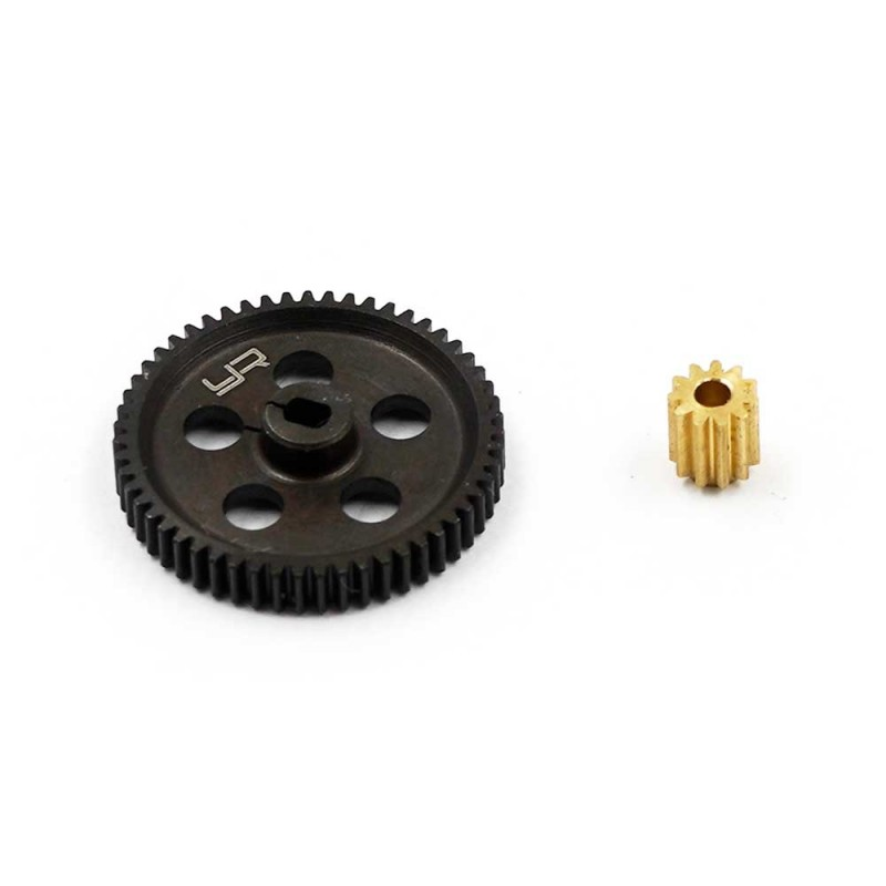 Steel 55T Spur Gear w/ 11T Pinion For Axial SCX24