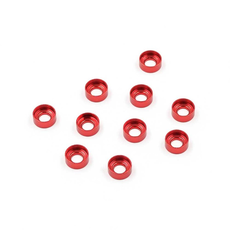 Aluminum M3 Button Head Countersunk Washer Red 10 pcs