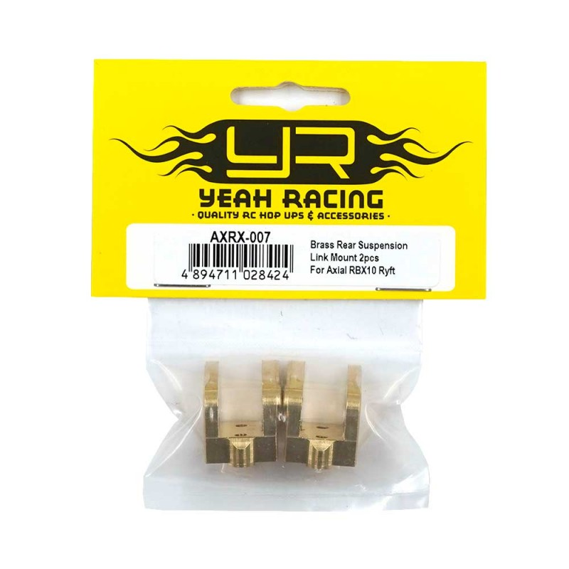 Brass Rear Suspension Link Mount 2pcs For Axial RBX10 Ryft