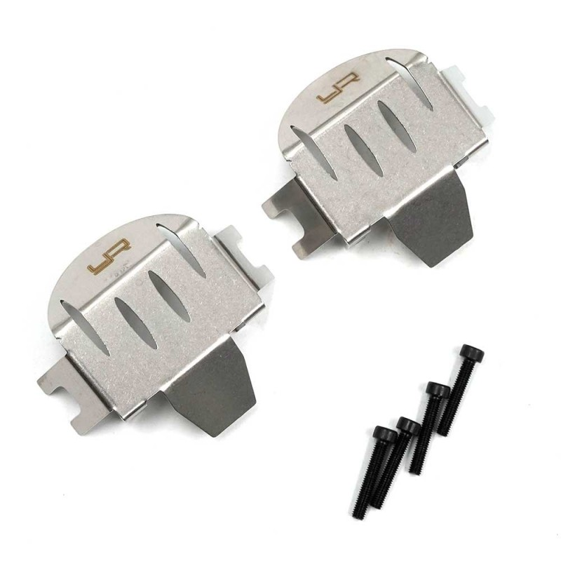 Stainles Steel Front & Rear Differential Protector For Axial RBX10 Ryft