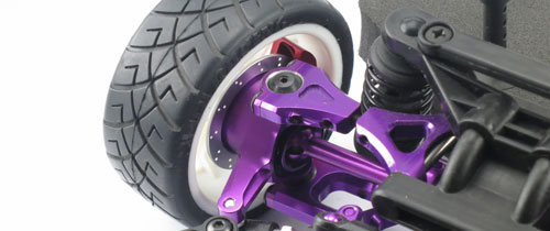 Yeah Racing Aluminum Front Knuckle Arm (PP) for HPI E10