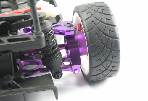 Yeah Racing Aluminum Rear Hub/Knuckle Arm (Left & Right) 2 Degree (PP) for HPI E10