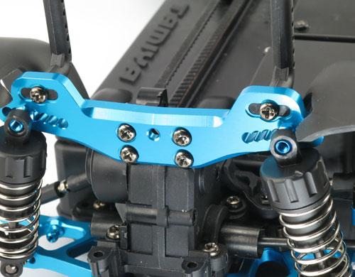 Yeah Racing Rear Shock/Damper Tower Aluminum Blue for Tamiya XV-01 #XV01-009BU