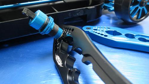 Yeah Racing Aluminum Shock Shaft Pliers & Pin, Screw Tester #YT-0134