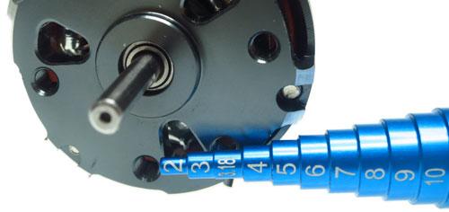 Yeah Racing Aluminum Bearing and Motor Bearing Inner Size Measurer and Tester For 2-15mm #YT-0074BU