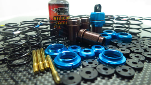 Yeah Racing Shock-Gear Damper Set for 1/10 RC Touring Car #DSG-0055