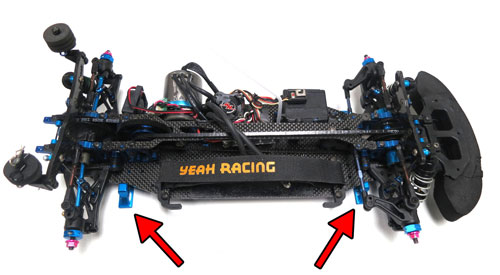 Yeah Racing Chassis Downstops & Height Measuring Kit for 1:8 / 1:10 On Road #YT-0071