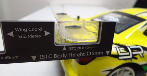 Yeah Racing 1/10 EP Touring Car Body Gauge For ISTC BRCA Blue #YT-0067