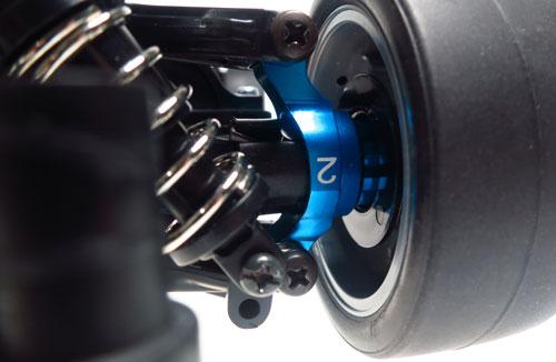 Yeah Racing Aluminum Rear Hub/Knuckle Arm 2 Degree For Tamiya TT02 #TT02-007-2