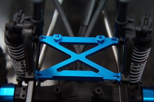 Yeah Racing Aluminum Rear Chassis H Brace For Axial SCX10 #SCX10-026RBU