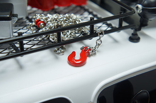 Yeah Racing 1/10 RC Rock Crawler Accessories 96cm Long Chain and Hook Set Red #YA-0357