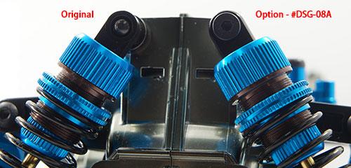 Yeah Racing Aluminum Shock Head Set For DSG Shock-Gear Tamiya TRF #DSG-08A