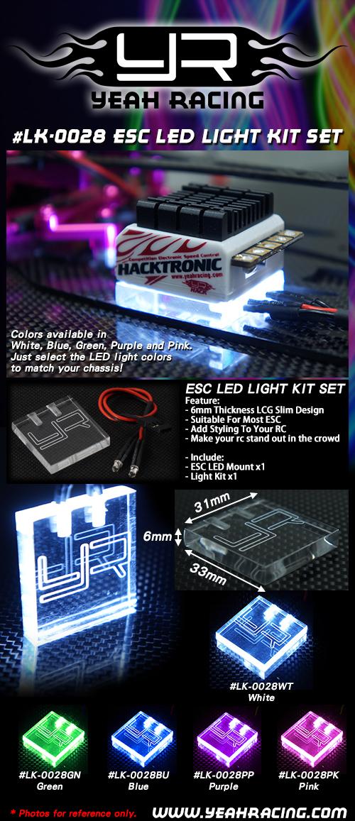 Yeah Racing ESC LED Light Kit Set #LK-0028