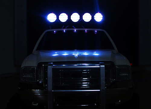 Yeah Racing 1/10 Aluminum Roof 5 White LED Light Set For RC Truck Crawler