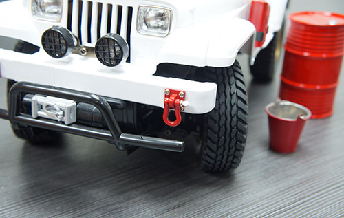 Yeah Racing 1/10 RC Rock Crawler Accessories HD Tow Shackle with Mounting Bracket Red #YA-0378