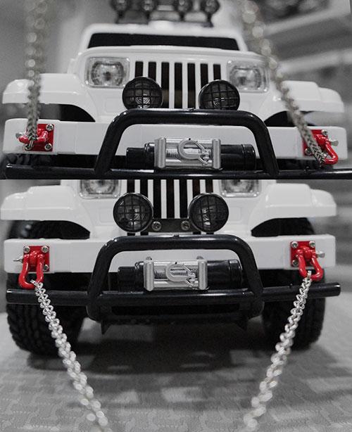 Yeah Racing 1/10 RC Rock Crawler Accessory 96cm Long Chain and Buckle Red #YA-0385